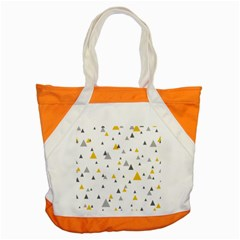 Pastel Random Triangles Modern Pattern Accent Tote Bag