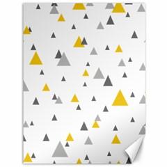 Pastel Random Triangles Modern Pattern Canvas 36  X 48