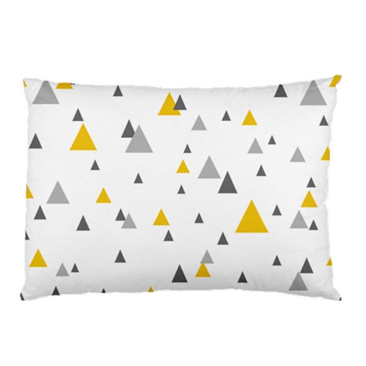 Pastel Random Triangles Modern Pattern Pillow Cases (Two Sides)