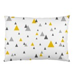 Pastel Random Triangles Modern Pattern Pillow Cases (Two Sides) Back