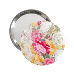 Colorful Floral Collage 2 25  Handbag Mirrors