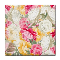 Colorful Floral Collage Face Towel