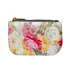Colorful Floral Collage Mini Coin Purses by Dushan