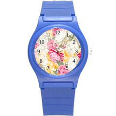 Colorful Floral Collage Round Plastic Sport Watch (s)