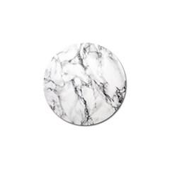 White Marble Stone Print Golf Ball Marker (10 Pack)