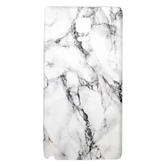 White Marble Stone Print Galaxy Note 4 Back Case