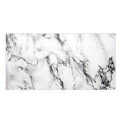 White Marble Stone Print Satin Shawl