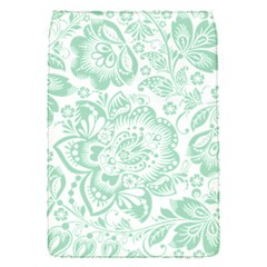 Mint Green And White Baroque Floral Pattern Flap Covers (s)