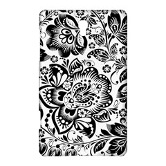 Black Floral Damasks Pattern Baroque Style Samsung Galaxy Tab S (8 4 ) Hardshell Case