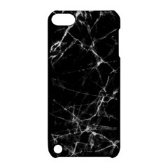 Black Marble Stone Pattern Apple Ipod Touch 5 Hardshell Case With Stand by Dushan