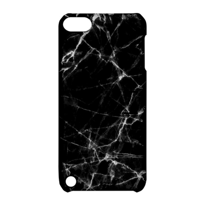 Black marble Stone pattern Apple iPod Touch 5 Hardshell Case with Stand