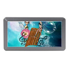 Music, Pan Flute With Fairy Memory Card Reader (mini) by FantasyWorld7