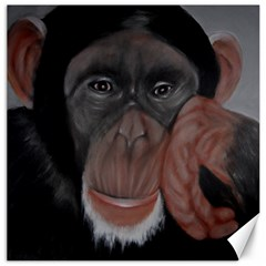 The Thinker Canvas 16  X 16   by timelessartoncanvas