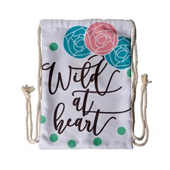 Wild At Heart Flowers Drawstring Bag (small) by CraftyLittleNodes