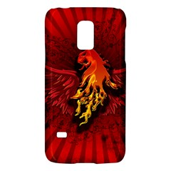 Lion With Flame And Wings In Yellow And Red Galaxy S5 Mini by FantasyWorld7