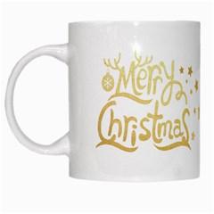 Christmas Gold2 White Coffee Mug