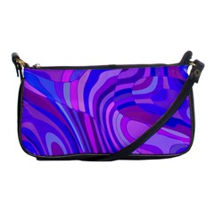 Retro Abstract Blue Pink Shoulder Clutch Bags by ImpressiveMoments