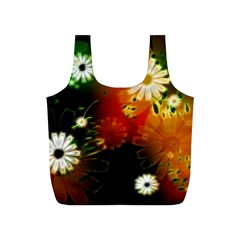 Awesome Flowers In Glowing Lights Full Print Recycle Bags (s)  by FantasyWorld7