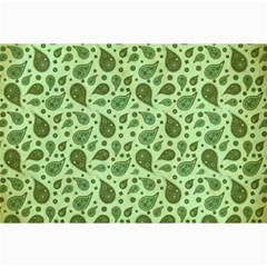 Vintage Paisley Green Collage 12  x 18  by MoreColorsinLife