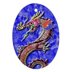 Dragon Phoenix Ornament Oval Ornament (two Sides) by TheDean