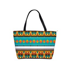 Tribal Design In Retro Colors Classic Shoulder Handbag by LalyLauraFLM