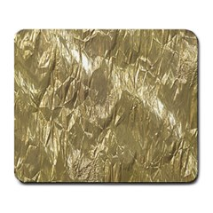Crumpled Foil Golden Large Mousepads by MoreColorsinLife