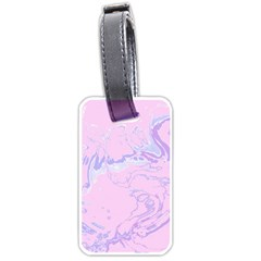 Unique Marbled 2 Baby Pink Luggage Tags (two Sides) by MoreColorsinLife