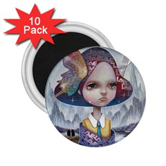 World Peace 2.25  Magnets (10 pack)  by YOSUKE