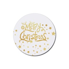 Christmas Gold2 Drink Coaster (round)