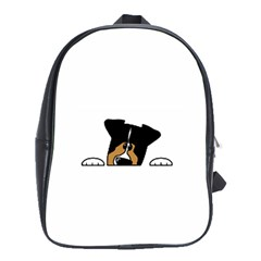 Black Tri Peeping Aussie Dog School Bags(large)  by TailWags