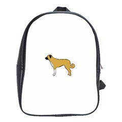 Anatolian Shepherd Color Silhouette School Bags (xl)  by TailWags