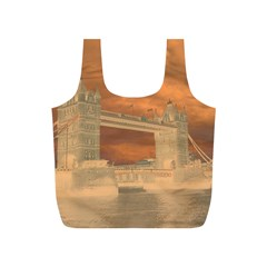 London Tower Bridge Special Effect Full Print Recycle Bags (s)  by MoreColorsinLife