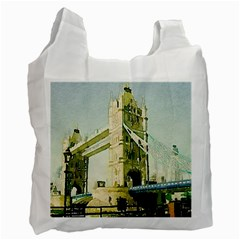 Watercolors, London Tower Bridge Recycle Bag (one Side) by MoreColorsinLife