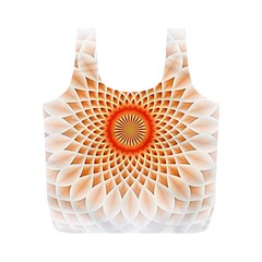 Swirling Dreams,peach Full Print Recycle Bags (m)  by MoreColorsinLife