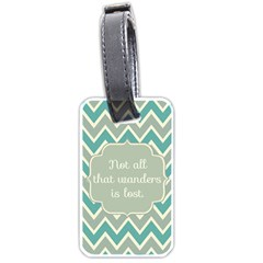 Wanderer Luggage Tag (one Side) by typewriter