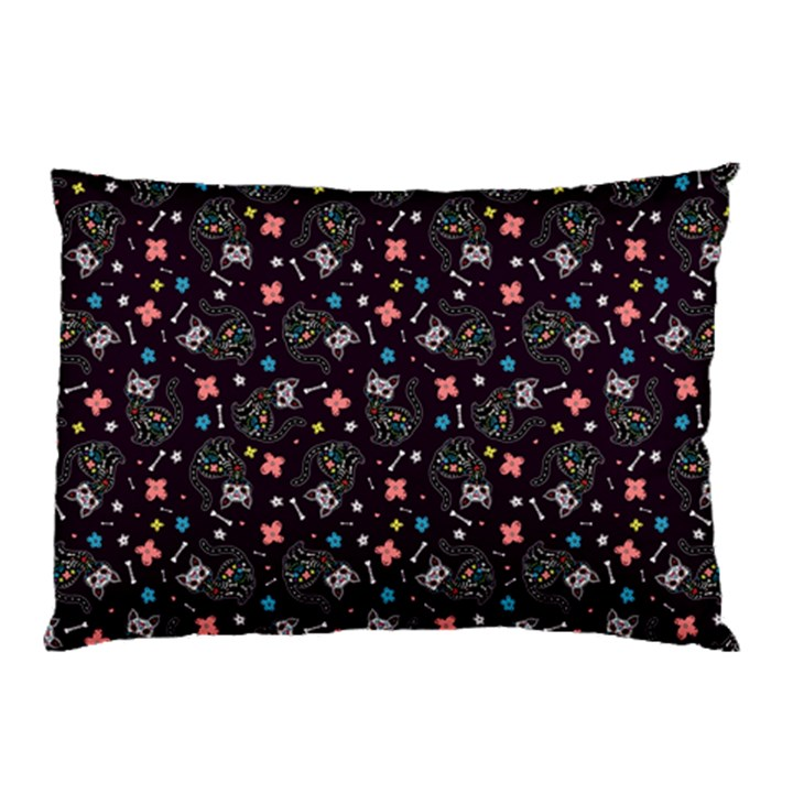 Dia de los Gatos Pillow Case (Two Sides)