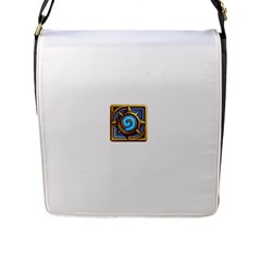Hearthstone Update New Features Appicon 110715 Flap Messenger Bag (l)  by HearthstoneFunny