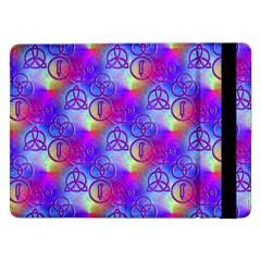 Rainbow Led Zeppelin Symbols Samsung Galaxy Tab Pro 12 2  Flip Case