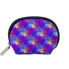 Rainbow Led Zeppelin Symbols Accessory Pouch (small) by SaraThePixelPixie