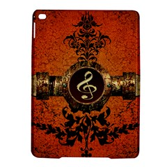Wonderful Golden Clef On A Button With Floral Elements Ipad Air 2 Hardshell Cases by FantasyWorld7