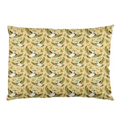Owls In Flight Pillow Case (two Sides)