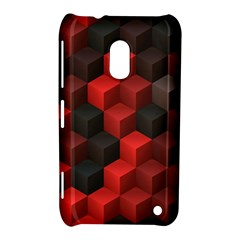 Artistic Cubes 7 Red Black Nokia Lumia 620 by MoreColorsinLife