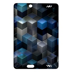 Artistic Cubes 9 Blue Kindle Fire Hd (2013) Hardshell Case by MoreColorsinLife