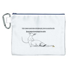 Better To Take Time To Think Canvas Cosmetic Bag (xxl)  by mouse