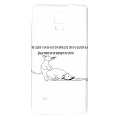 Better To Take Time To Think Galaxy Note 4 Back Case by mouse