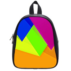 Geo Fun 15 School Bags (small)  by MoreColorsinLife