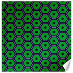 Stars In Hexagons Pattern Canvas 16  X 16  by LalyLauraFLM