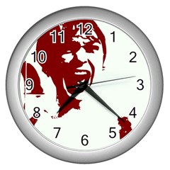 Psycho Wall Clocks (silver)  by icarusismartdesigns