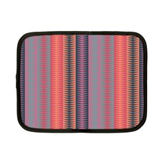 Triangles And Stripes Pattern Netbook Case (small) by LalyLauraFLM