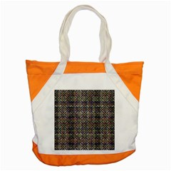 Multicolored Ethnic Check Seamless Pattern Accent Tote Bag  by dflcprints